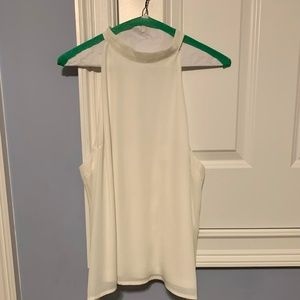 White High Neck Tank with Open Back - BLVD